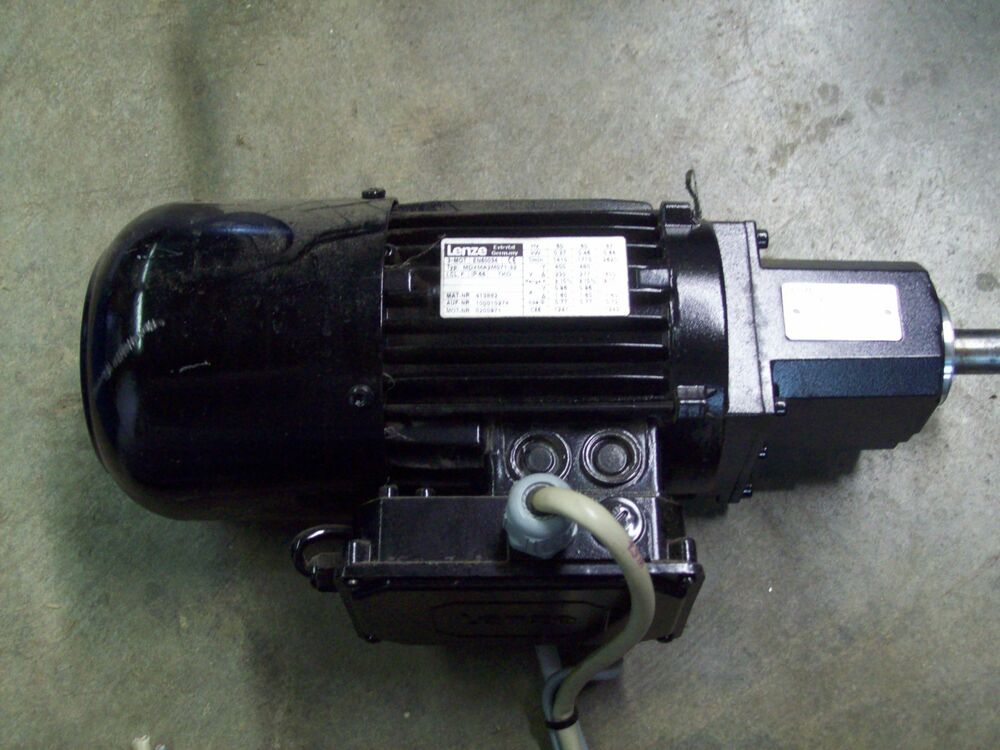 Mdxma2m071 32 En60034 Lenze Electric Motor With Brake