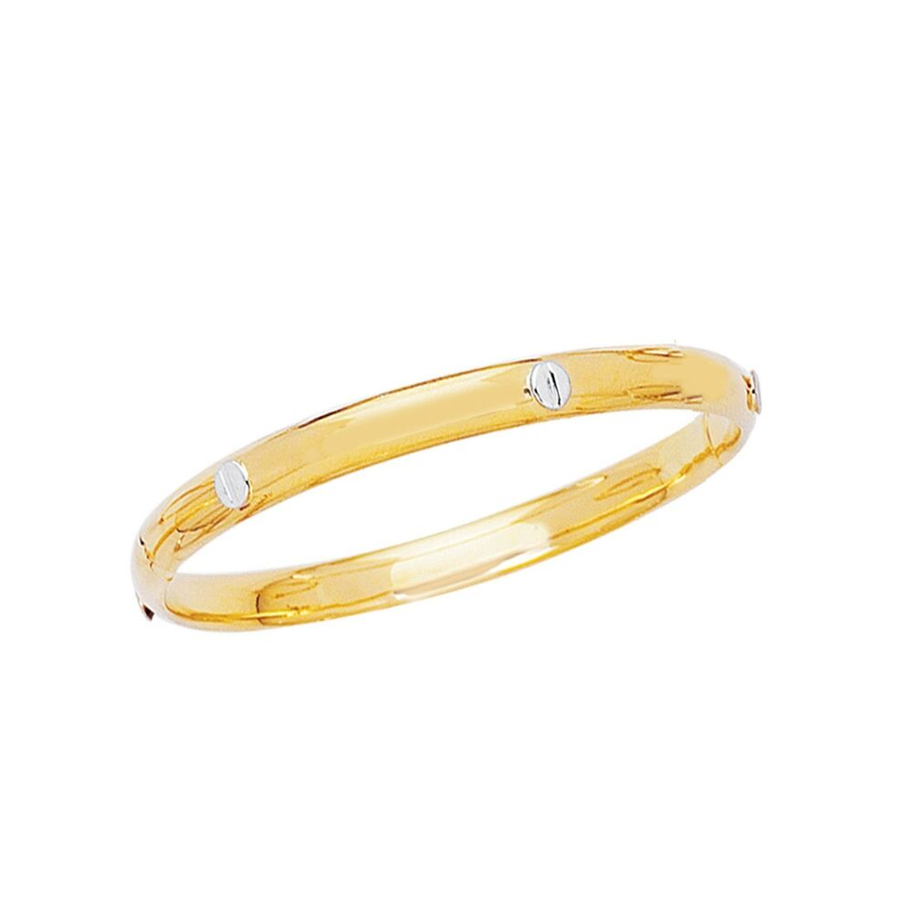14k Real Gold Children S Designer Baby Bangle Bracelet 5 5