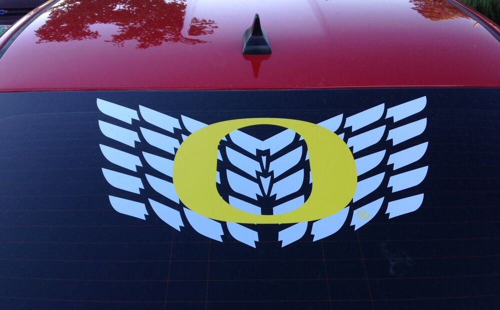 Oregon Ducks O Logo With Wings Rare Car Truck Decal