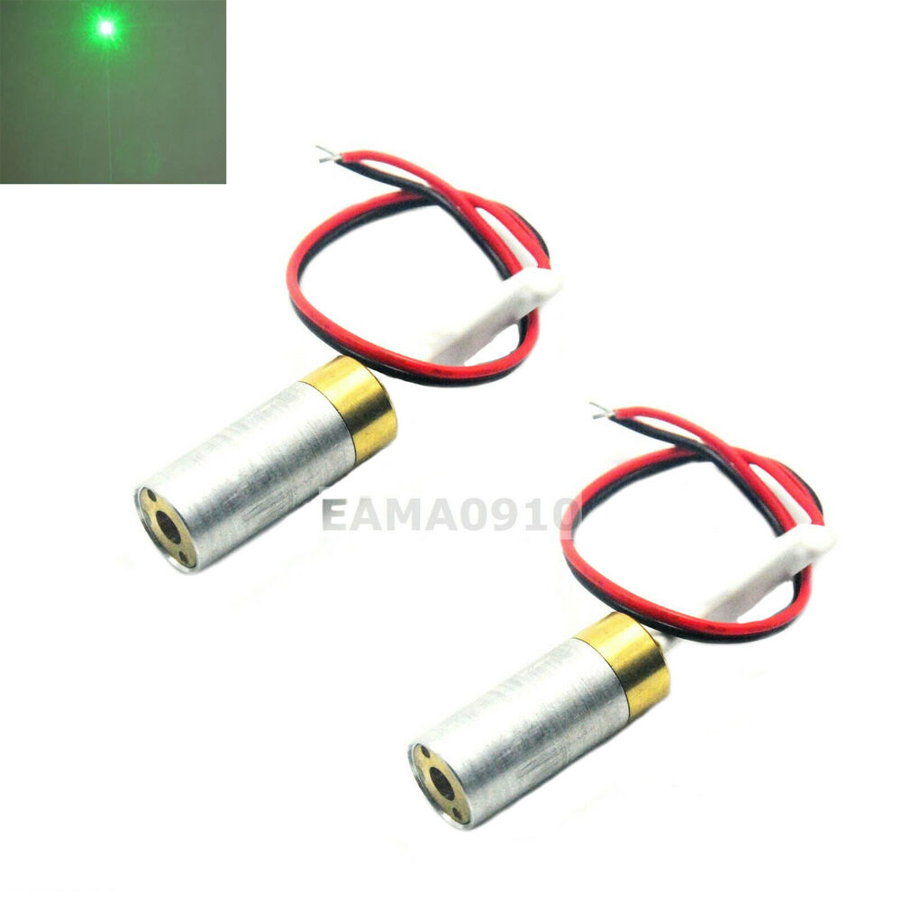 2pcs Industrial Lab 5vdc 532nm Green Laser 10mw Dot Diode