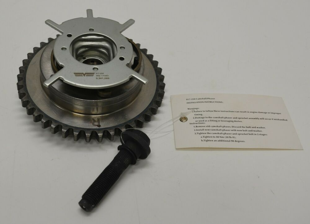 S L on Camshaft Gear Engine Timing