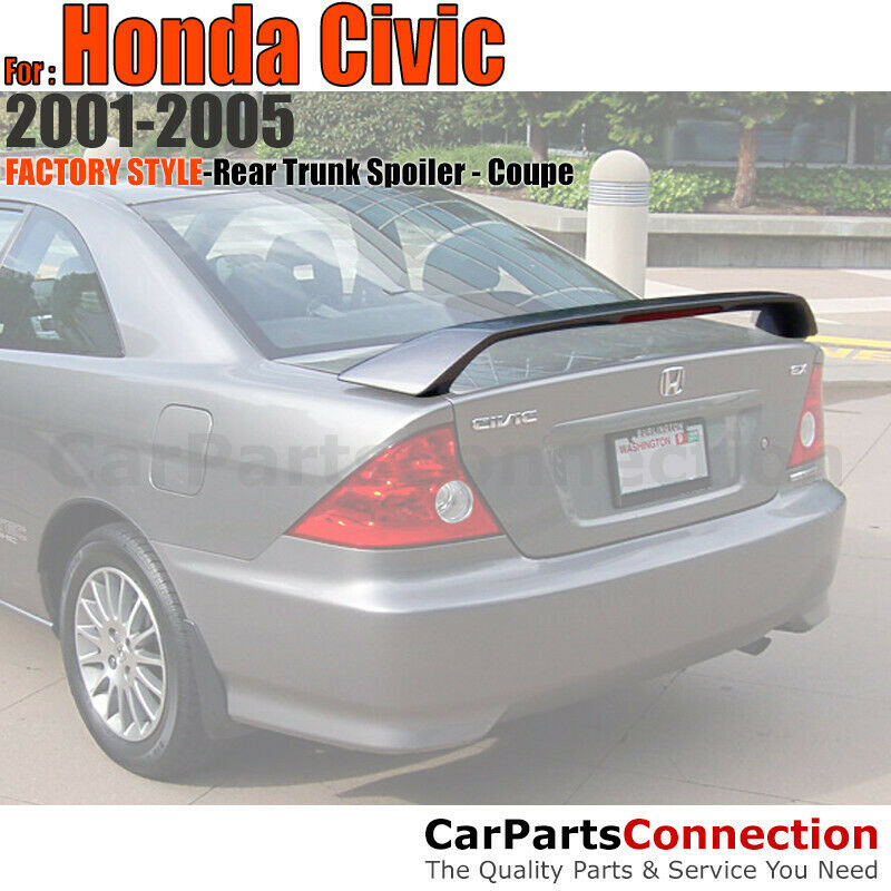 Painted ABS Rear Trunk Spoiler Wing For 2001-2005 Honda