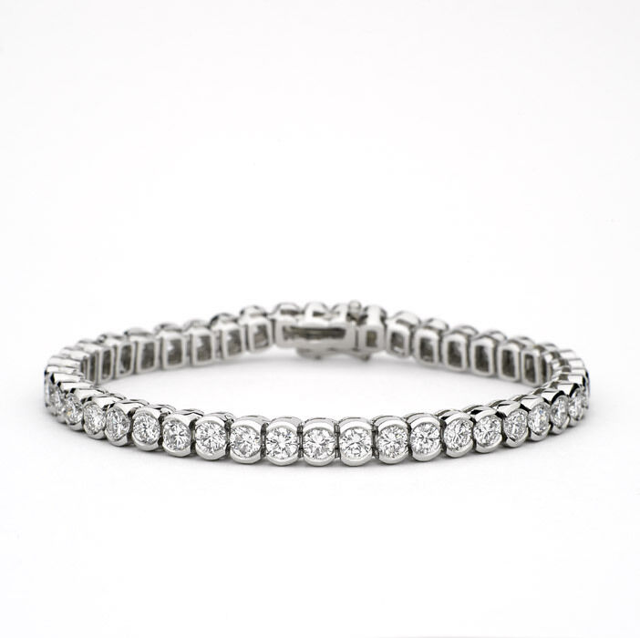 Big Diamond Tennis Bracelet 10 Carat Total Weight