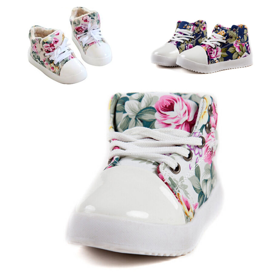 Baby Kid Girl Flower Princess Shoes Boots Floral Casual