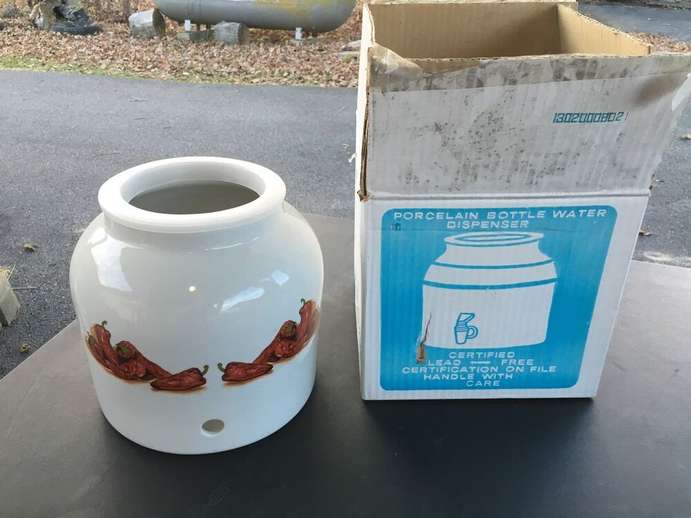 Water Crock White Porcelain Ceramic Water Bottle Jug