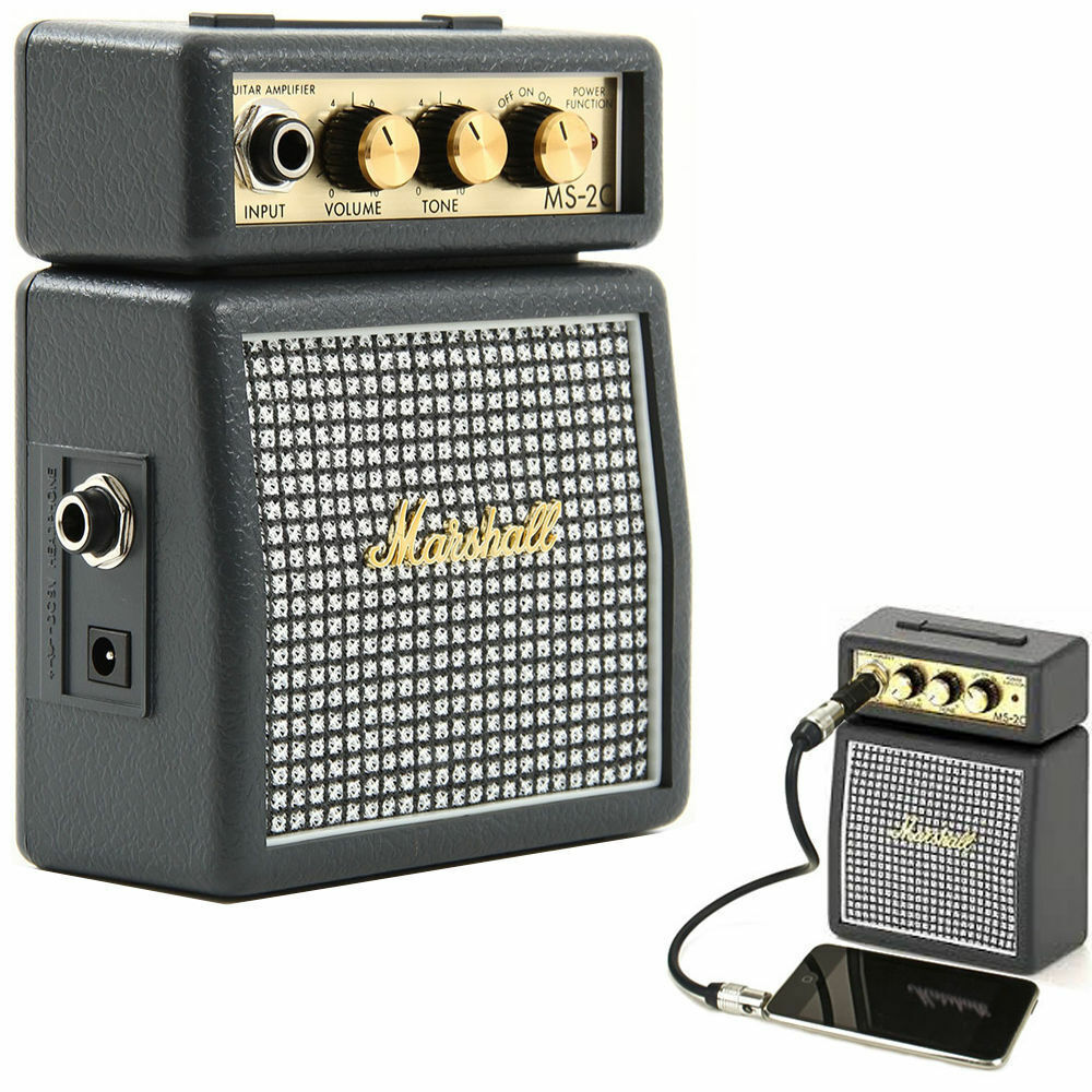 marshall ms2c classic portable micro amplifier amp speaker for electric guitar ebay. Black Bedroom Furniture Sets. Home Design Ideas