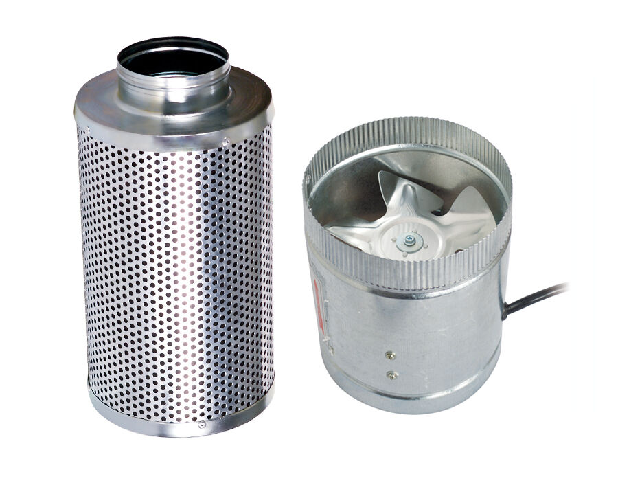 Stainless Steel 6 Inch Inline Fan : Quot inch duct booster inline fan w carbon scrubber air