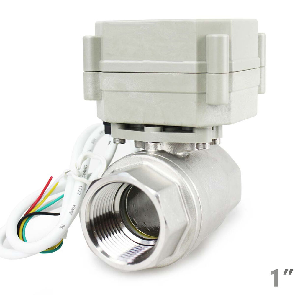 hsh flo 1 dn25 2 way ss304 motorized ball valve 1 inch