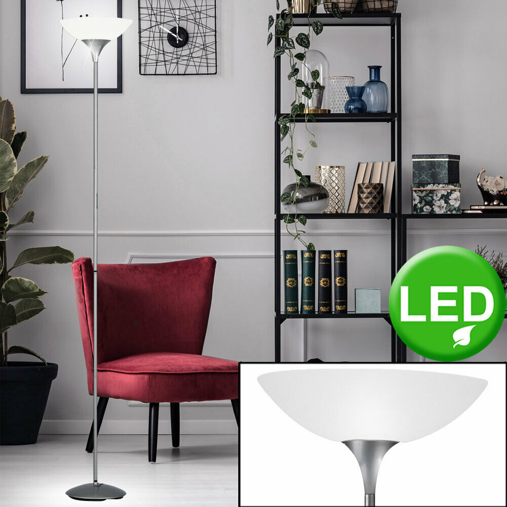 led deckenfluter steh leuchte leselampe dimmbar schwenkbar messing matt 180 cm ebay. Black Bedroom Furniture Sets. Home Design Ideas