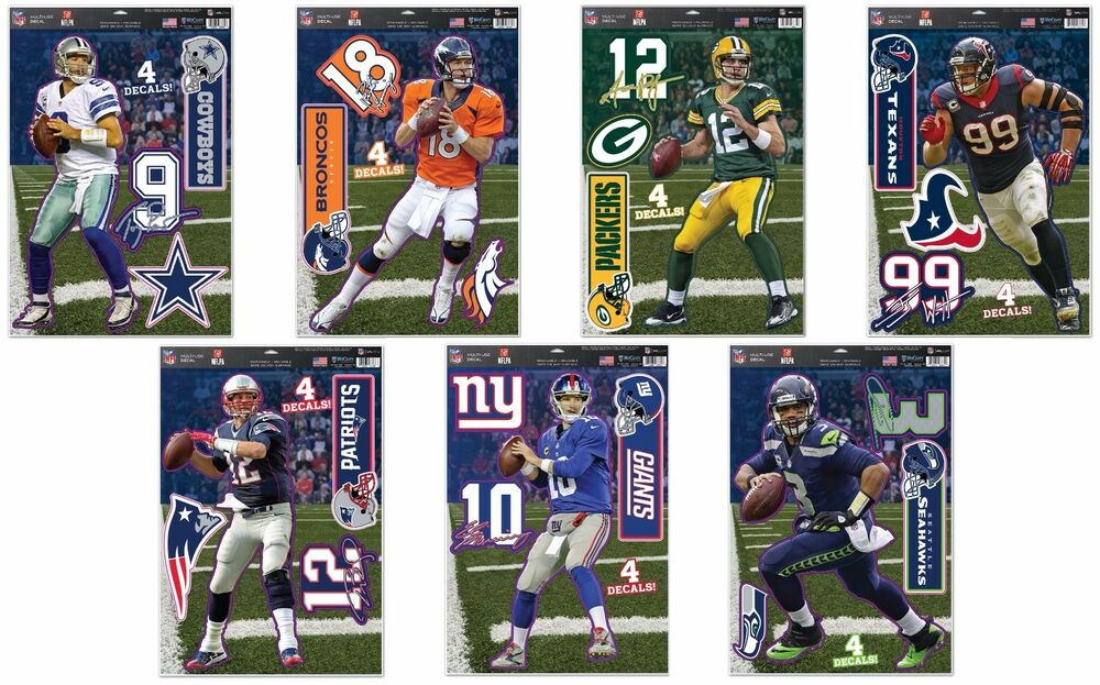 NFL Assorted Teams Players Wincraft 11 X 17 4 MultiUse