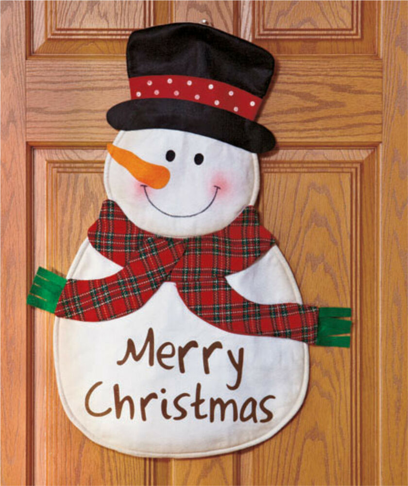 Decorating Tips For A Modern Merry Christmas: Snowman Merry Christmas Door Hanger Wall Hanging Décor W