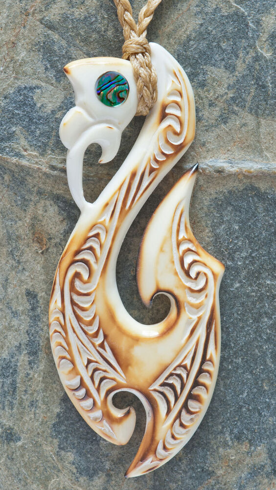 Maori manaia bone carving pendant from new zealand ebay