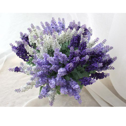 New artificial craft hydrangea bouquet home wedding fake for Fake flowers for crafts