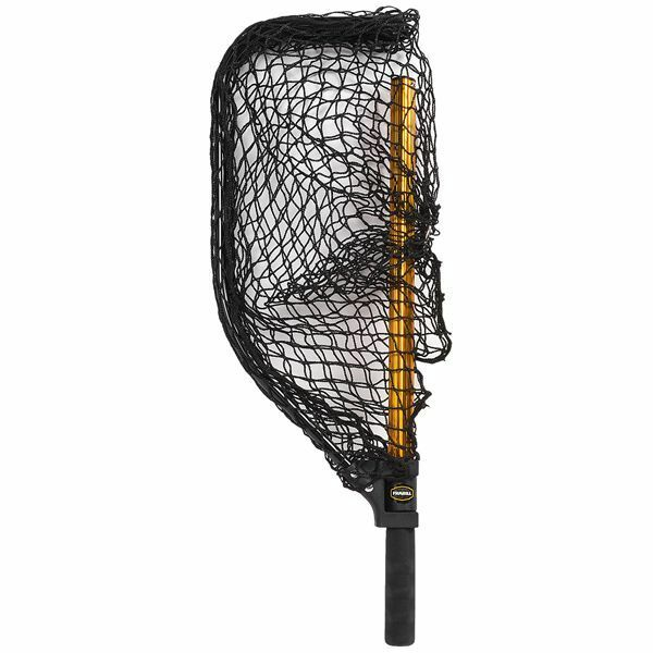 Frabill power stow collapsible fishing landing net size for Replacement fishing net