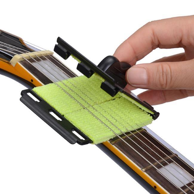practical string cleaner for acoustic electric guitars strings cleaning tool q ebay. Black Bedroom Furniture Sets. Home Design Ideas