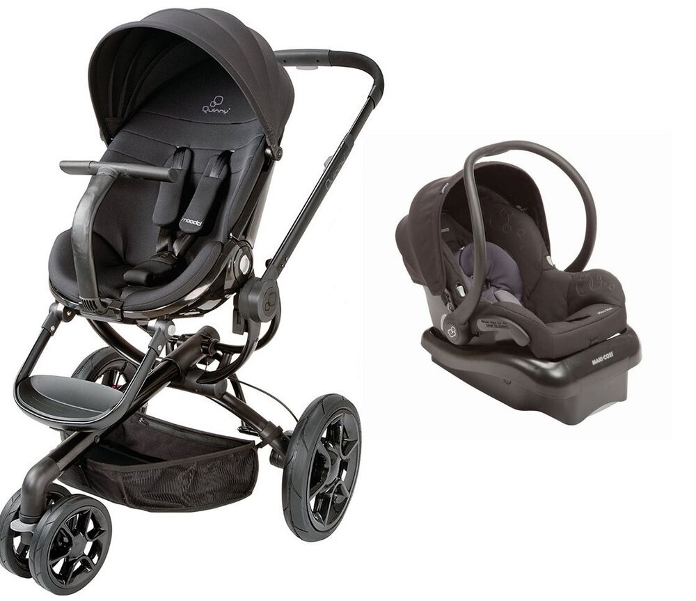 Quinny Moodd Travel System In Black Devotion With Stroller