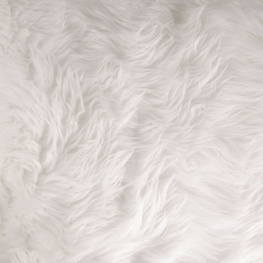 Shaggy Faux Fur White Fabric By The Yard Ebay
