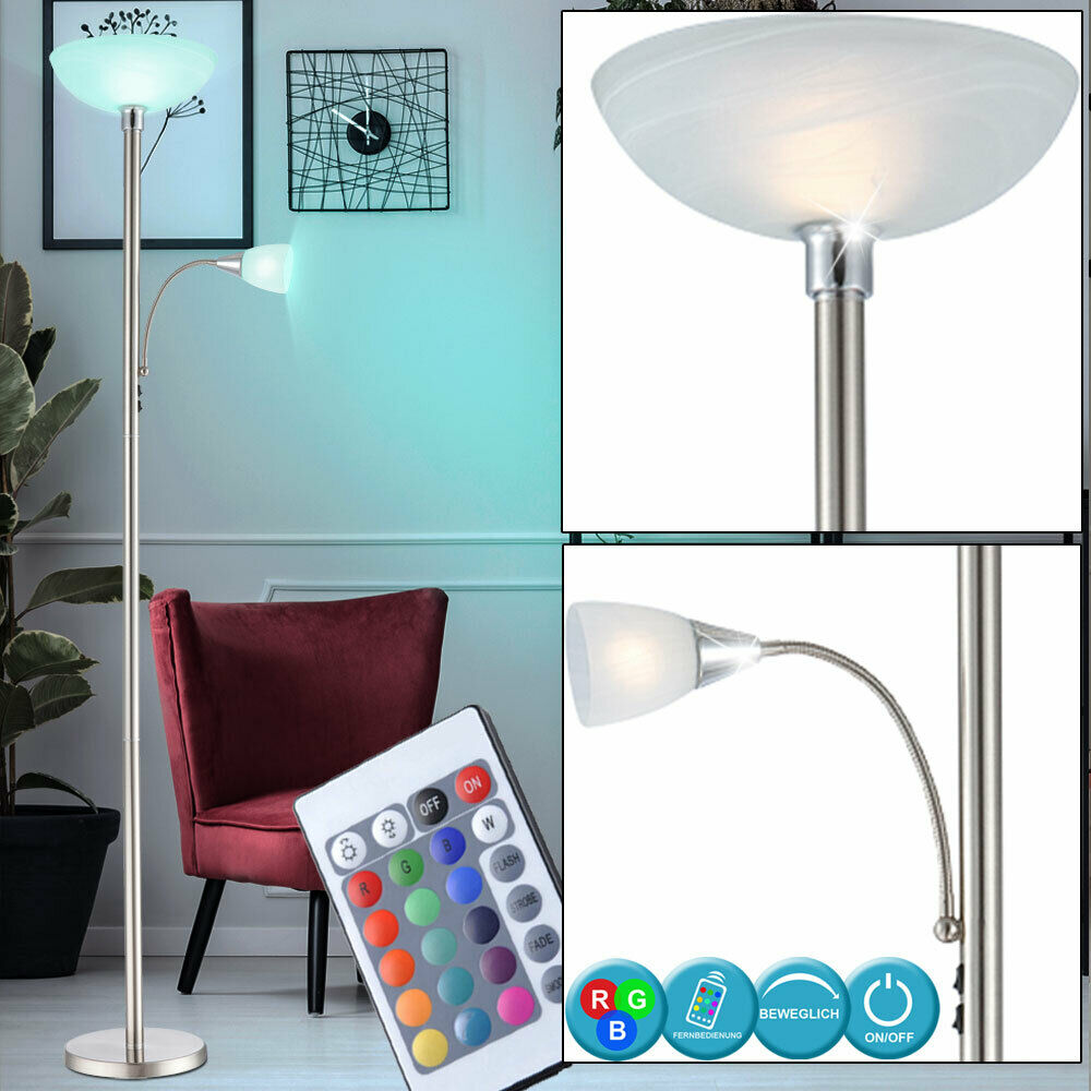 design stehlampe dimmbar standleuchte led deckenfluter 10 5 watt dxh 30x181 cm ebay. Black Bedroom Furniture Sets. Home Design Ideas