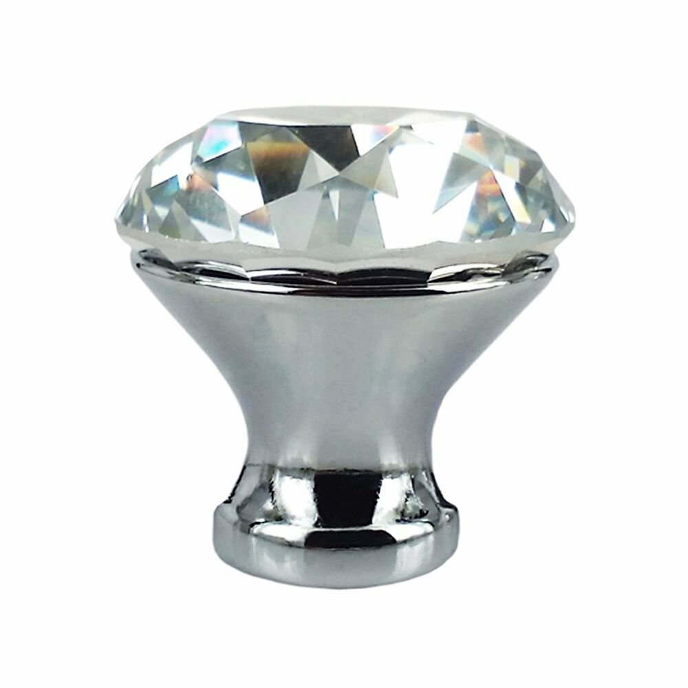 Crystal Knobs Kitchen Cabinets: 10pcs 30mm Crystal Glass Shape Cabinet Knob Drawer Pull