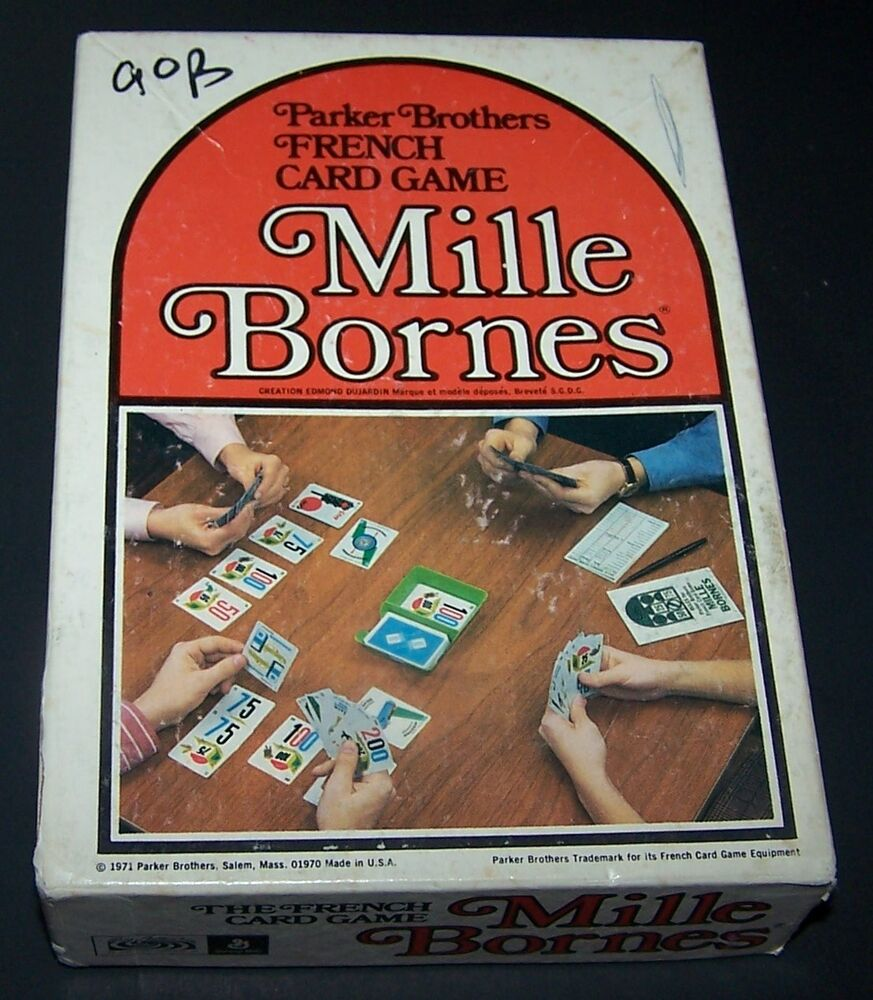 Vintage 1971 mille bornes 1971 french card game by parker for Dujardin 1000 bornes