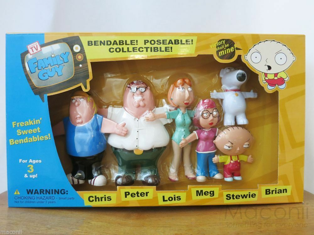 Cleveland Family Guy Toys : Family guy bendable poseable figures set chris peter