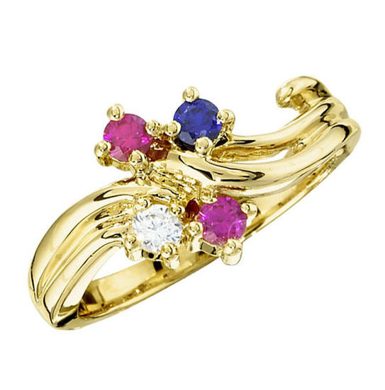 10k Or 14k Solid Gold Ring 1 To 5 Mother S Birthstones
