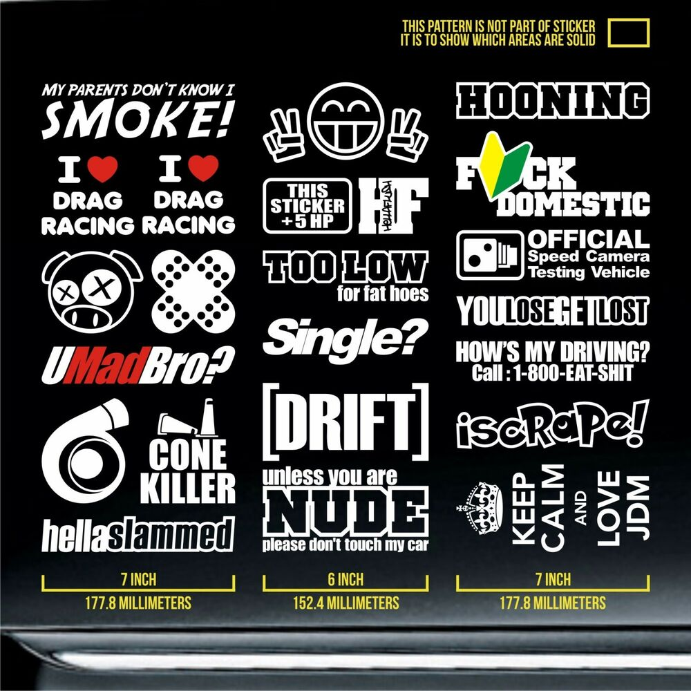 Race Car Stickers >> jdm stickers pack static boost dope civic lowered coupe lifestyle hybrid JDP 945   eBay
