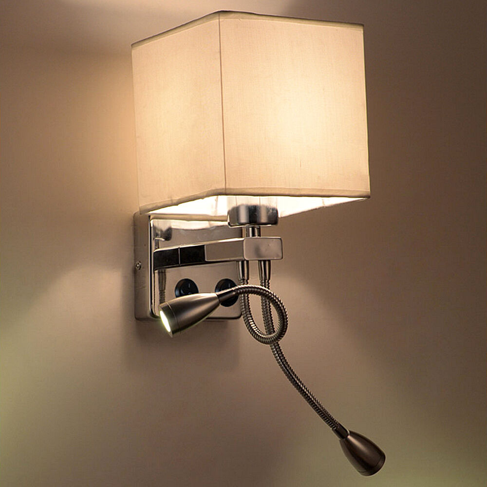 Bedside Wall Lamp With Led : Modern LED Cloth Wall Lamp Wall sconce Light Hallway Bedroom Bedside lighting eBay