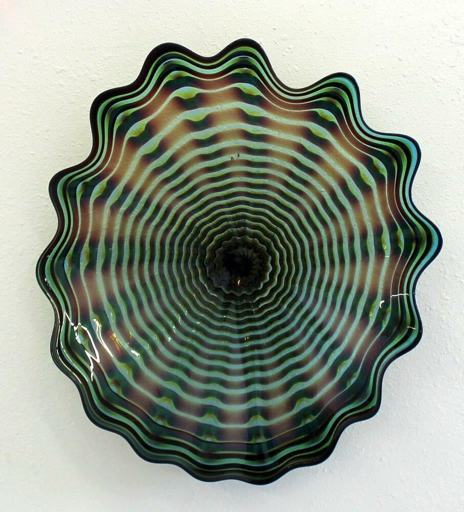 Blown Glass Wall Decor : Hand blown glass art wall platter bowl wrap oneil