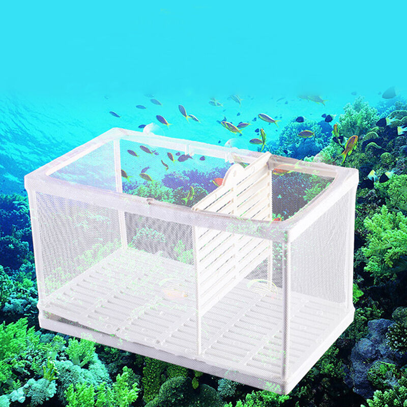 Net breeder aquarium fish tank newborn shrimp breeding for Fish tank net