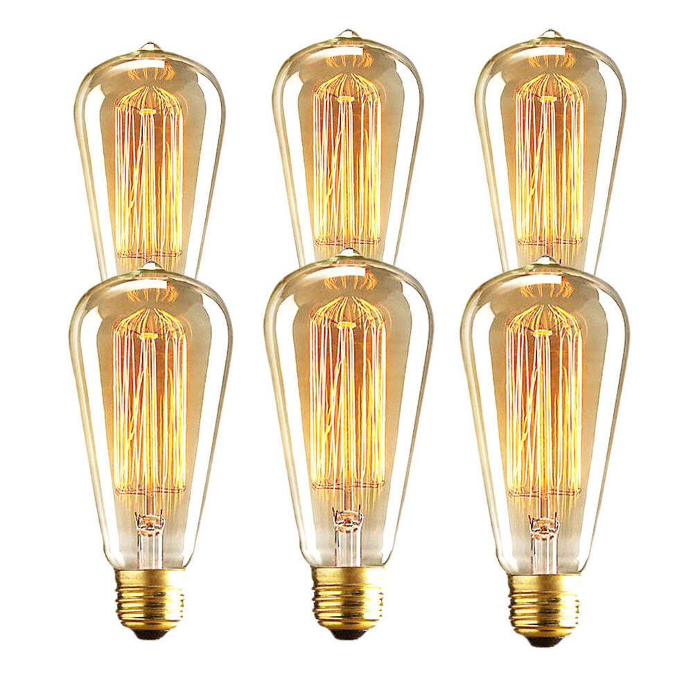 Marconi style light bulb vintage edison reproduction 60 40 for Which light bulb to buy