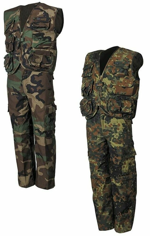 kinder anzug sommer kinderanzug junge hose weste jacke bundeswehr camouflage ebay. Black Bedroom Furniture Sets. Home Design Ideas
