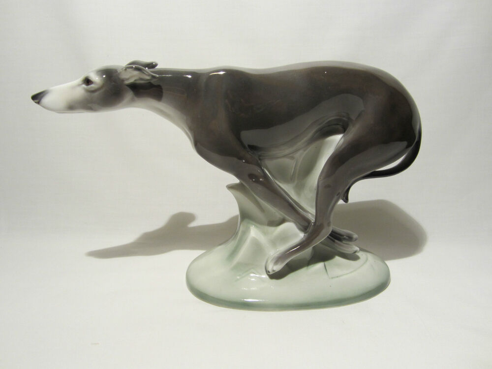 william goebel hummel ancienne statue porcelaine art deco chien dog levrier 1935 ebay. Black Bedroom Furniture Sets. Home Design Ideas