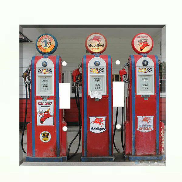 Vintage Gas Pump Light Switch Plate Wall Cover Gas Station