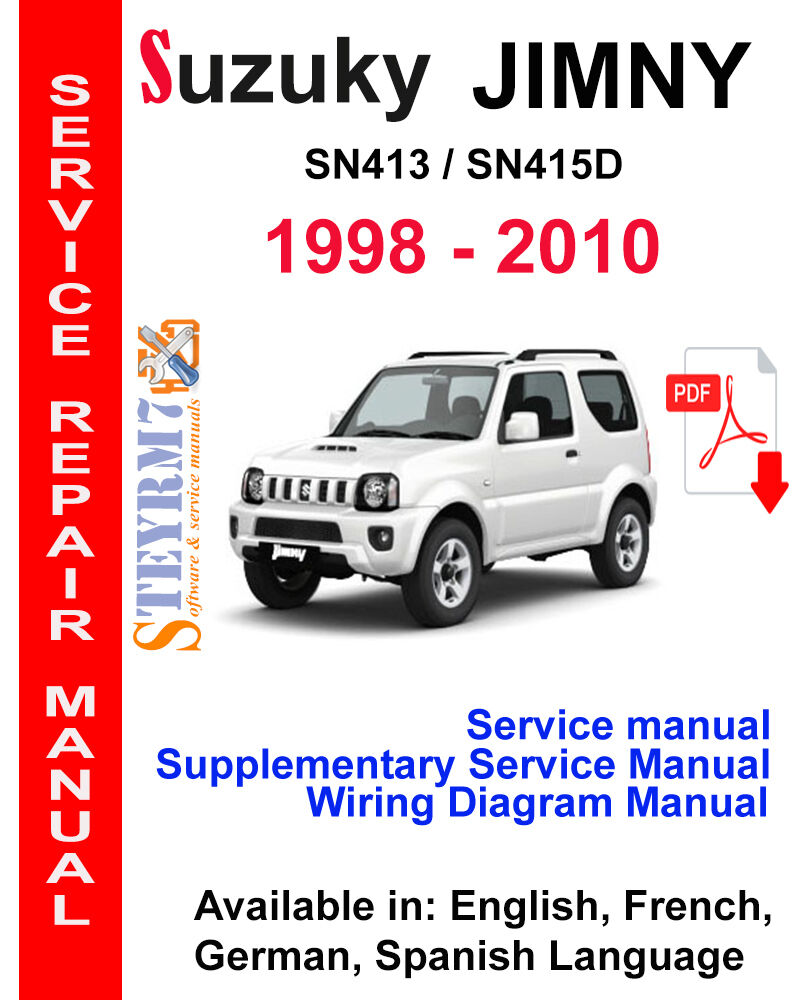 Suzuki Jimny Service Manual 1998 - 2010 3 in 1 Manual SN413 SN415D CD-Rom |  eBay