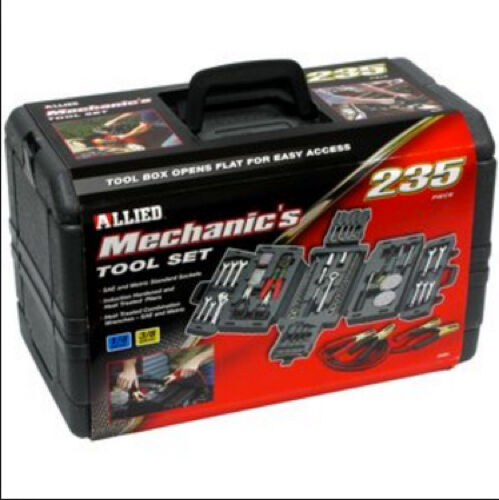 New mechanics 235 piece tool set fold out case car garage for Kit di case di garage