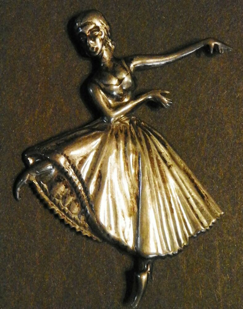 LANG STERLING BALLERINA .925 BROOCH PIN VINTAGE DANCER | EBay