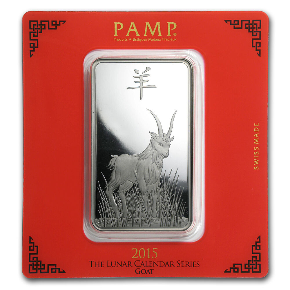 100 Gram Silver Bar Pamp Suisse Year Of The Goat Sku