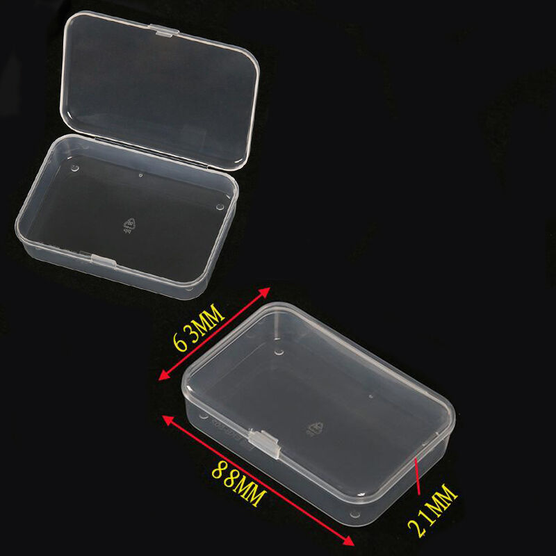 1pcs Small Plastic Transparent With Lid Collection Container Case Storage  Box | EBay