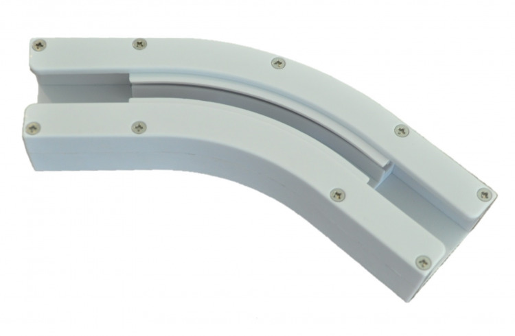 135 Degree Curved Belt Track For Electric Power Bay Window