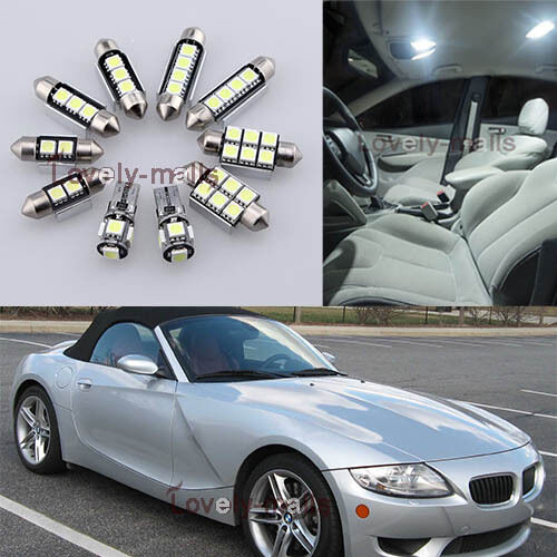NEW Error Free White Light Interior LED Package 9x For BMW