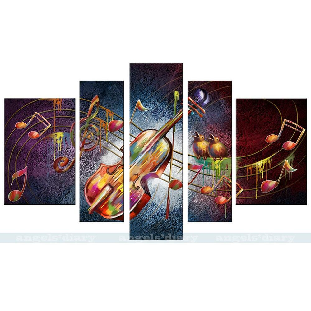 Music note guitar hd canvas print unframed canvas picture for How to do painting on canvas