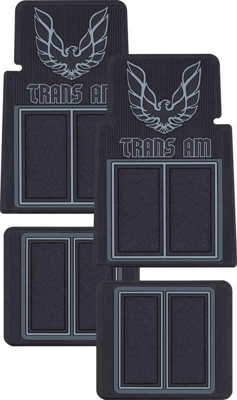 1970 1981 Firebird Trans Am Custom Molded Floor Mats With Carpet Black Ebay