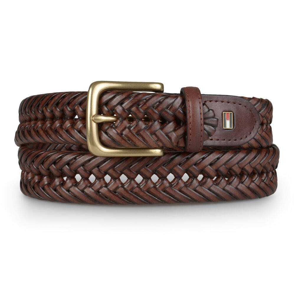 hilfiger mens dress braided belt ebay