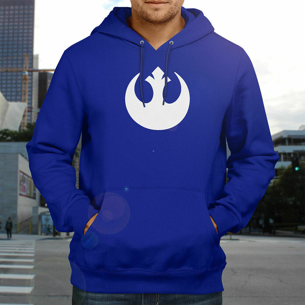 star wars rebel alliance galactic republic jedi fleece sweater pullover hoodie ebay. Black Bedroom Furniture Sets. Home Design Ideas