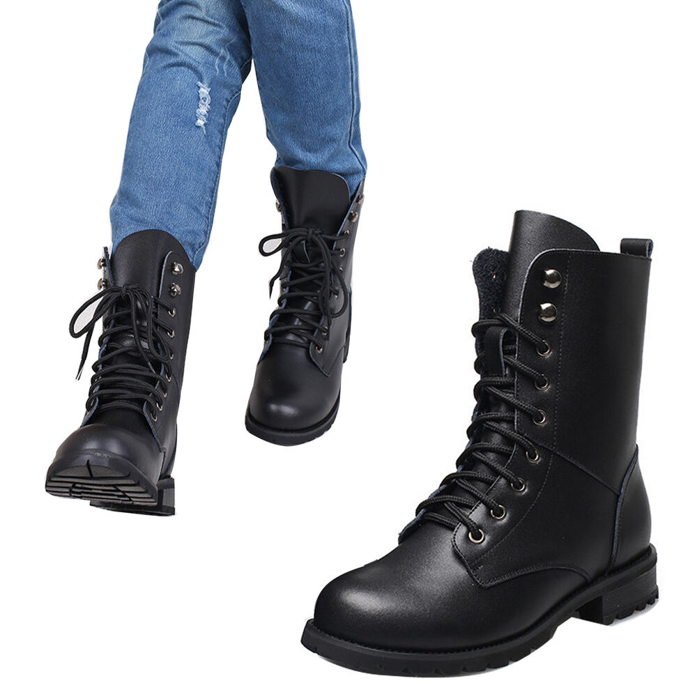 Unique Black Combat Boots  Vintage Lace Up Military By WakeUpDelilah