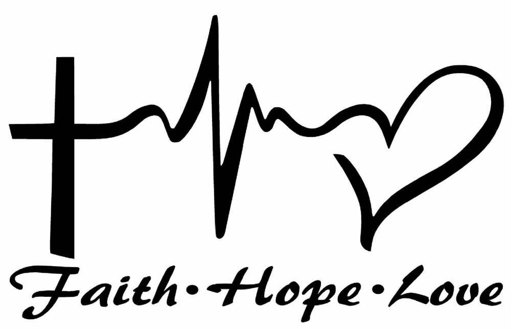 FAITH HOPE LOVE Vinyl Decal Sticker Car Window Wall Bumper ...
