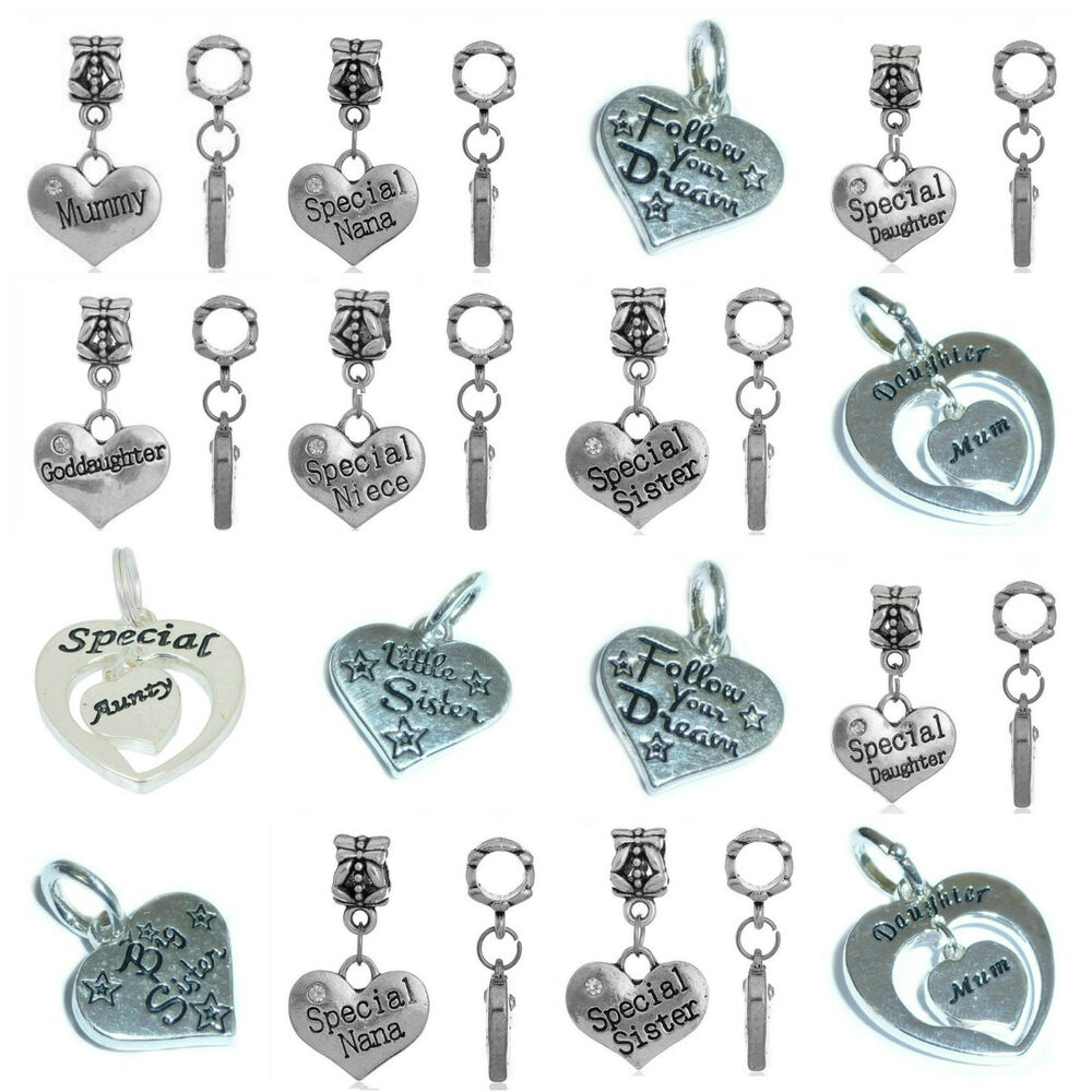message charms clip on or bail for charm bracelets buy any