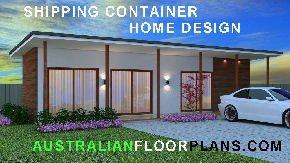 shipping container home granny flat cheap house solution full constuction plans ebay. Black Bedroom Furniture Sets. Home Design Ideas