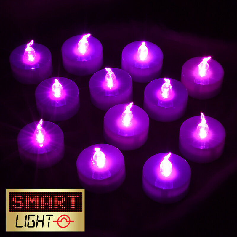 Smartlight Purple Flameless Led Battery Tea Light Candles